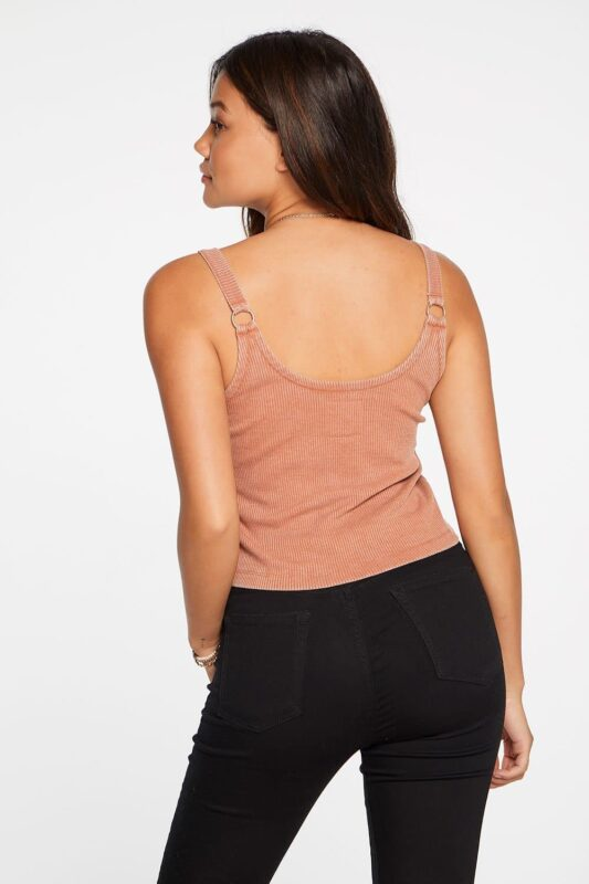 COZY RIB CROP DOUBLE SCOOP CAMI SUNKISSED 3