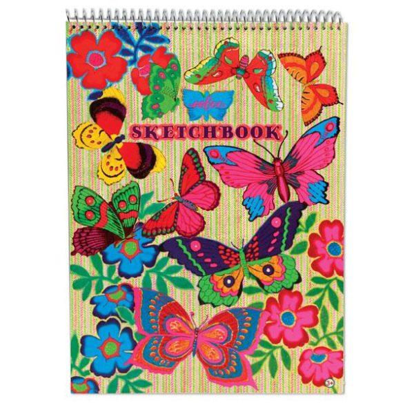Fluorescent Butterflies Sketchbook Drawing Pad