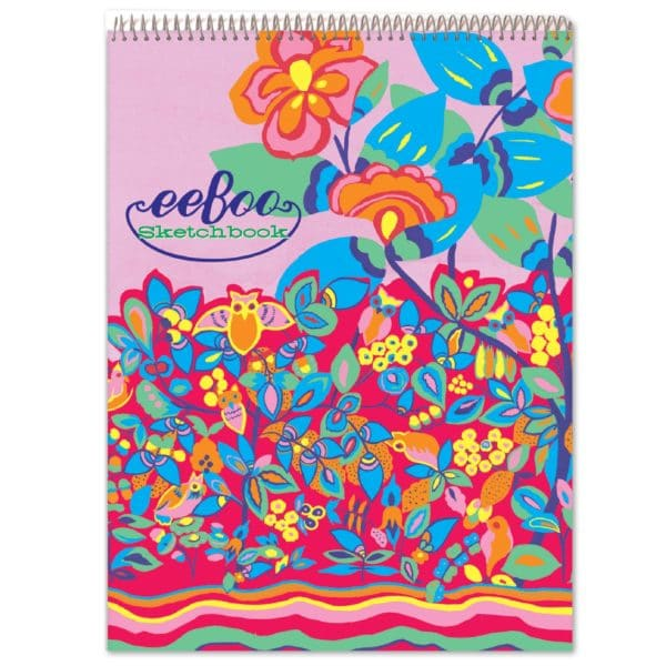 Owl Fluorescent Sketchbook Drawing Pad