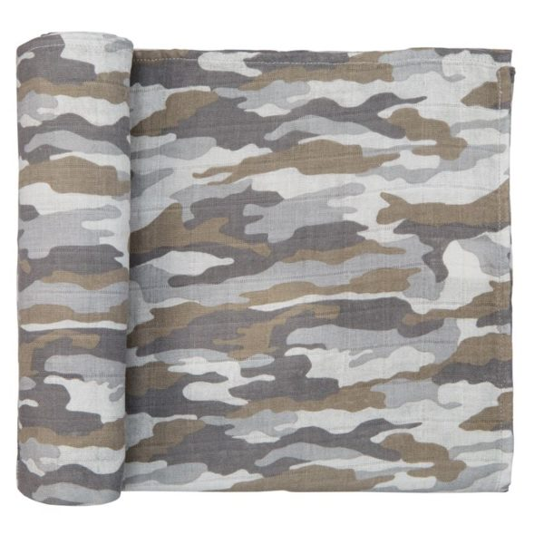 Camo Muslin Swaddle Blanket