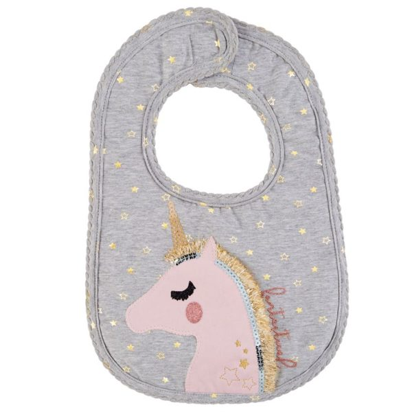 Fantastical Unicorn Glitter Baby Bib