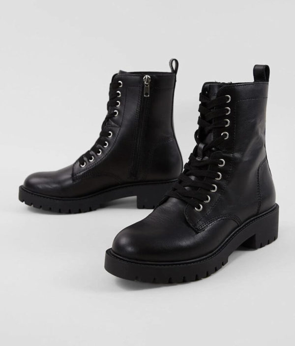 Guided Leather Combat Boot