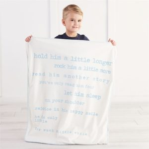 Little Boy Printed Sherpa Blanket