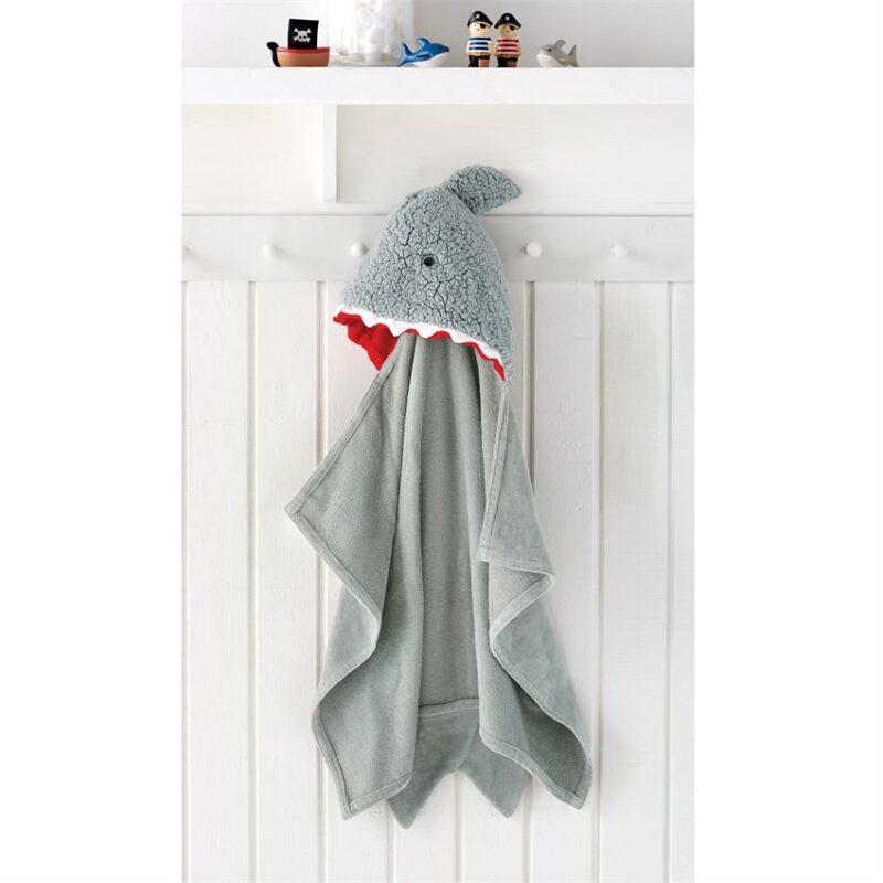 SHARK BABY HOODED TOWEL 1