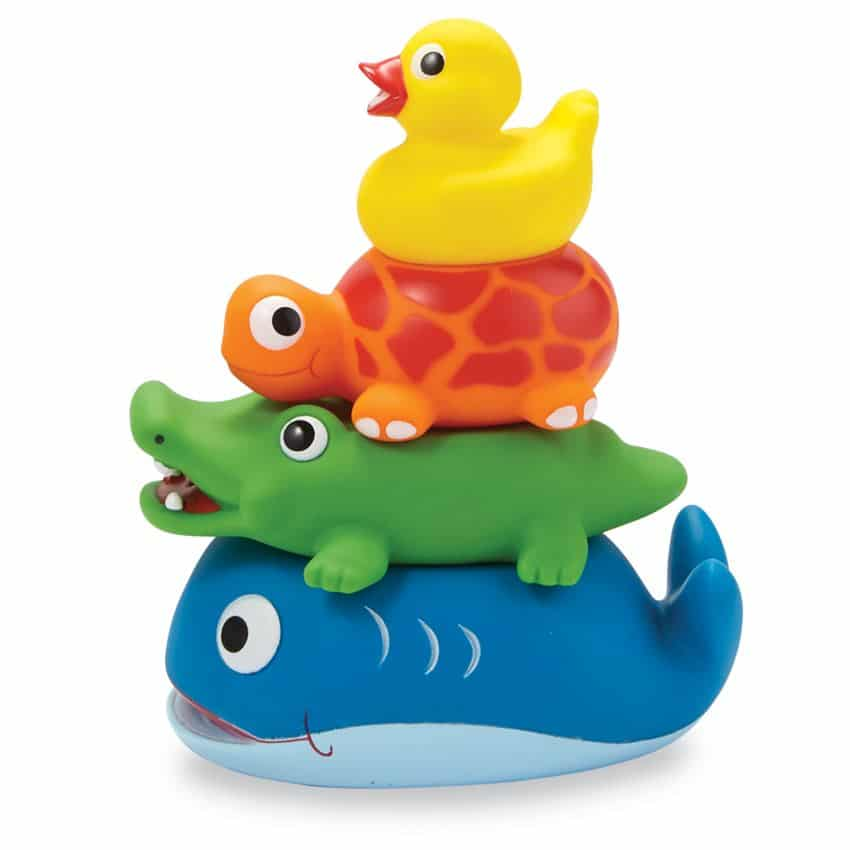 STACKABLE RUBBER BATH TOYS 1