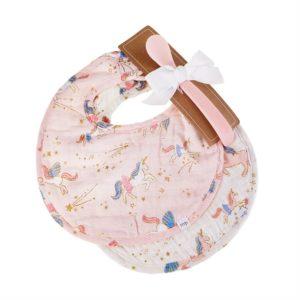 Fairy Unicorn Muslin Bib & Spoon Set