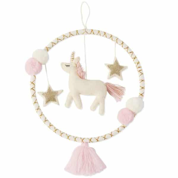 Unicorn Tassel Wall Hoop