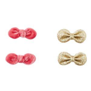 Velvet and Glitter Clip Set