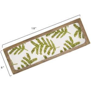 Green Decorative Tray