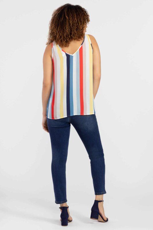bold stripe sleeveless blouse 2