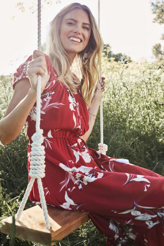 on and off shoulder floral dress 1