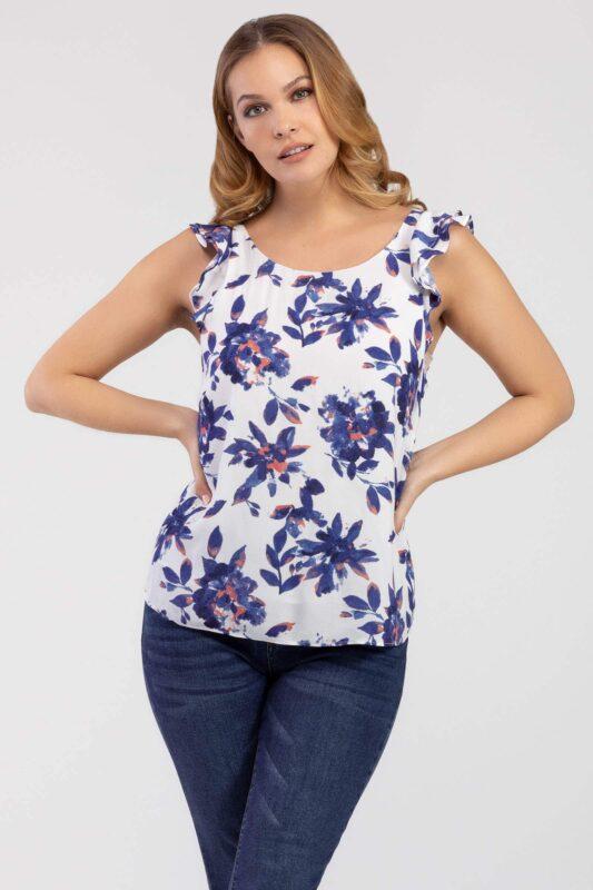 ruffle sleeveless blouse 1