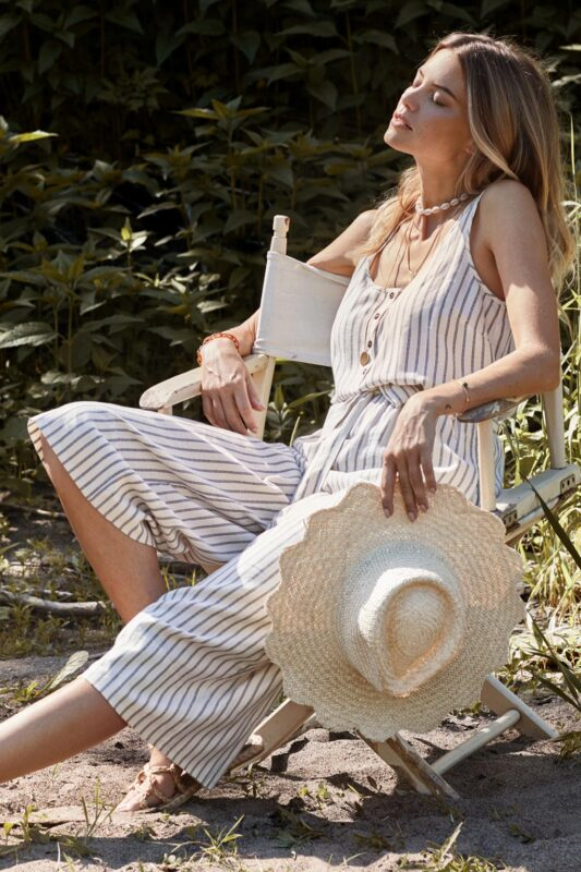 striped henley jumpsuit 1
