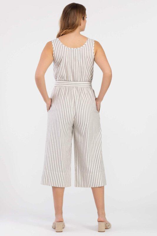 striped henley jumpsuit 3