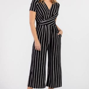 Surplice Jumpsuit With Front Pockets