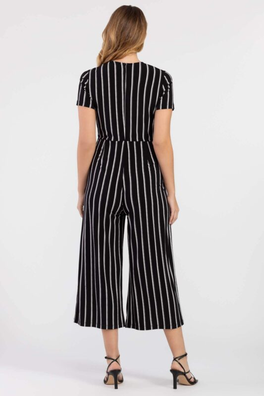 surplice jumpsuit with front pockets 2