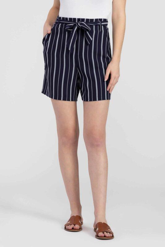 tie waist striped shorts 2
