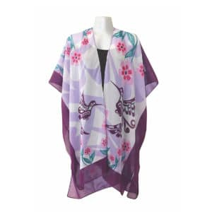Sheer Fashion Wrap - Hummingbird by Francis Dick. Made in Alaska.