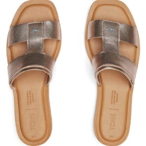 Seacliff Metallic Leather Sandal