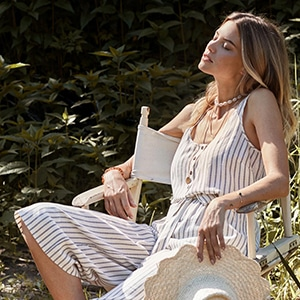 striped henley jumpsuit square