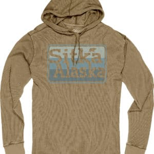 Sitka Alaska Men's Burnout Thermal Long Sleeve Hoodie