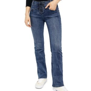 Eva Lace-Up Bootcut Jeans