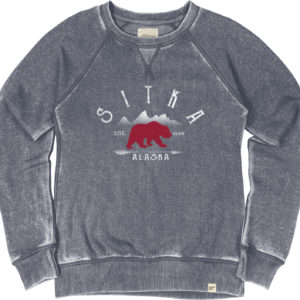 Bear Patch Burnout Crewneck Sweatshirt