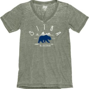 Bear Patch Burnout V-Neck Tee