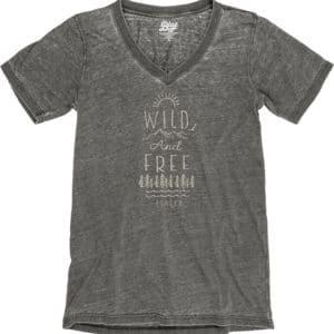Sitka, Alaska Wild and Free Short Sleeve V-Neck Tee