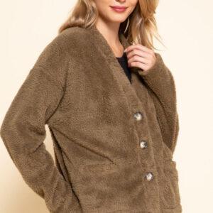 Mittoshop Button down fur cardigan
