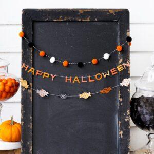 Happy Halloween Mini Banner Set