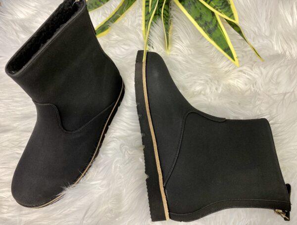 Tobin Black Leather Boot