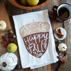 Happy Fall Kitchen Towel
