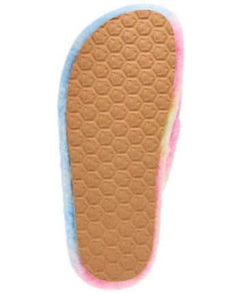 Pink Fuzed Cross-Band Slipper