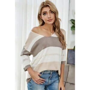 Multi Color Striped Knitted Top